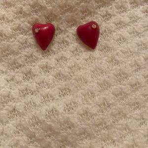 Betsey Johnson Pink Heart Earrings